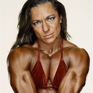 Muscular Female Bodybuilder