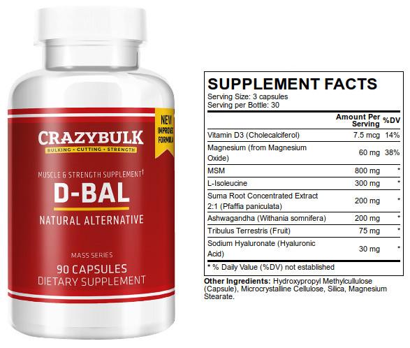 Crazy Bulk D-Bal Ingredients