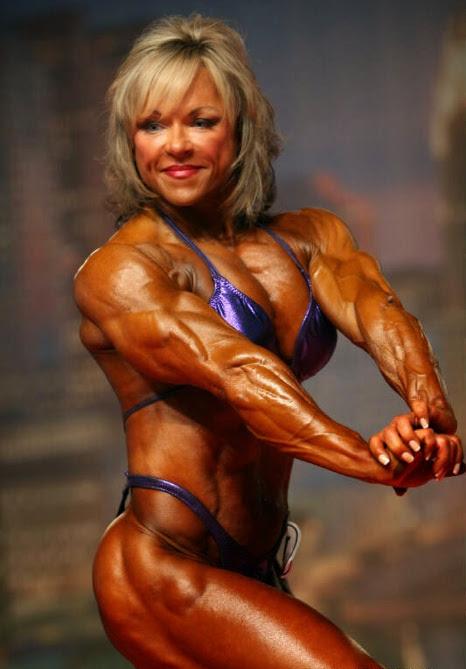 Blonde Muscular Bodybuilder Posing